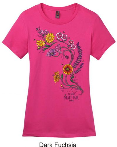 2016 Ladies Full Color Flower Tshirt
