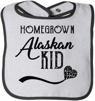 Homegrown Alaskan Kid Baby Bib