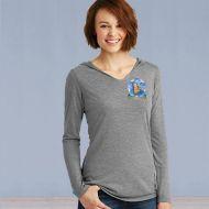 Ladies Hooded Sweater Tshirt - Memories in the Making Logo - Grey