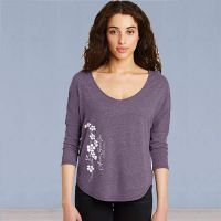 Forget-me-not Flowers 3/4 Sleeve Vintage Tshirt Purple