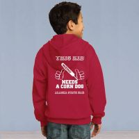 This Kid Needs a Corn Dog Full Zip Hooded Sweater