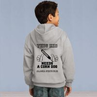 This Kid Needs a Corn Dog Youth Full Zip Hooded Sweater