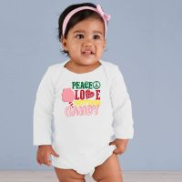 Peace, Love and Cotton Candy Baby Longsleeve Onesie