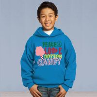 Peace Love and Cotton Candy Youth Pull Over Sweater
